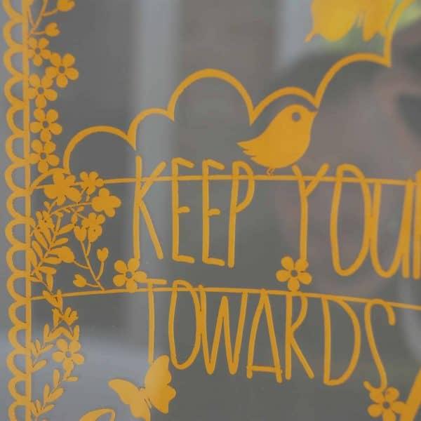 keep your face towards the sunshine papercut