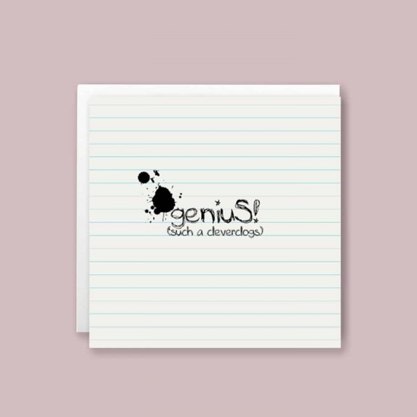 Genius Cleverclogs Congratulations Greeting Card