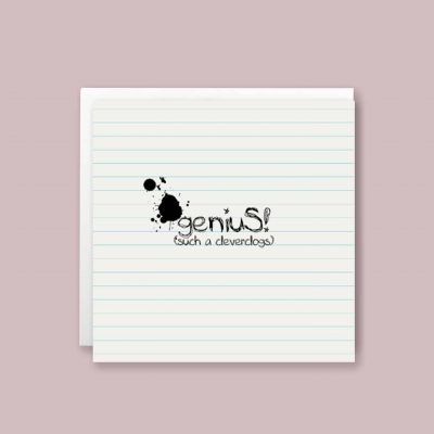 Genius Cleverclogs Congratulations Greeting Card