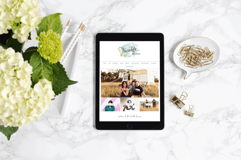 The Twinkle Diaries blog on an iPad