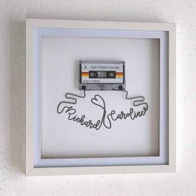 Personalised Cassette Mixtape Art Framed Papercut