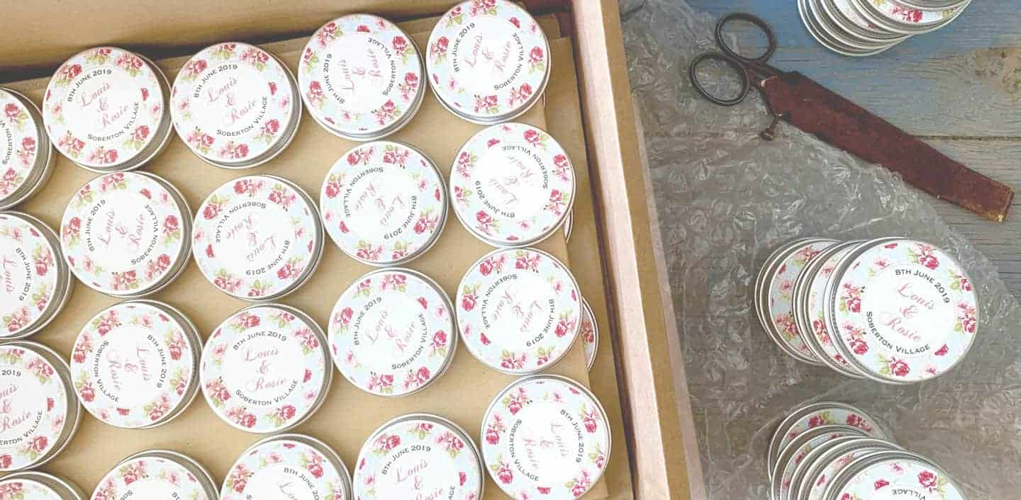 Personalised Presents from Mooks Design | The original wedding favour tins